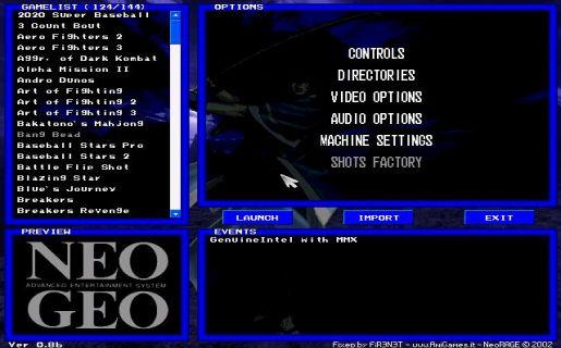 NeoRAGEx emulator