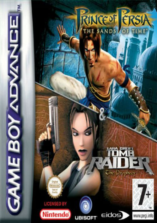 2 In 1 Prince Of Persia The Sands Of Time Tomb Raider The Prophecy Rom Free Download For Gba Consoleroms