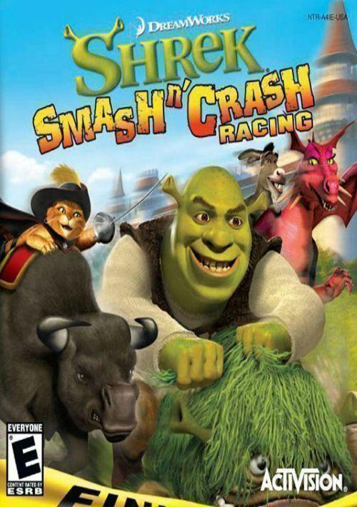 shrek  smash n' crash racing esupremacy rom free