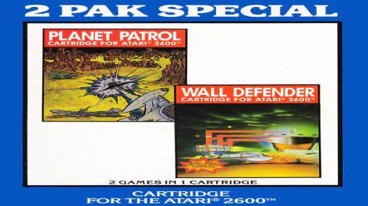 2 Pak Special Dark Blue - Planet Patrol,Wall Defender (1990) (HES) (PAL)