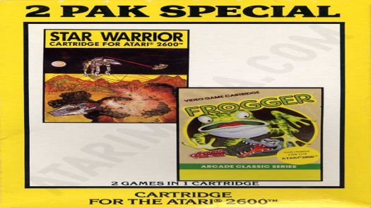 2 Pak Special Yellow - Star Warrior,Frogger (1990) (HES) (PAL)