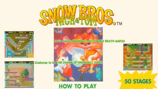 Snow Bros. - Nick & Tom (Dooyong license)