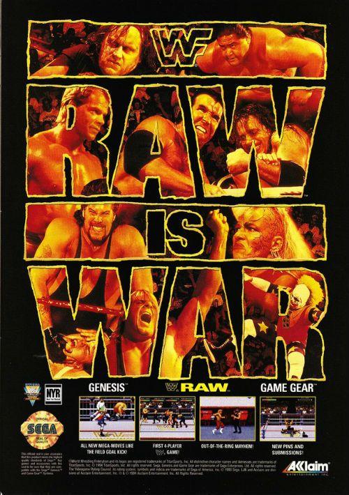 Wwf Raw Rom Free Download For Sega Game Gear Consoleroms